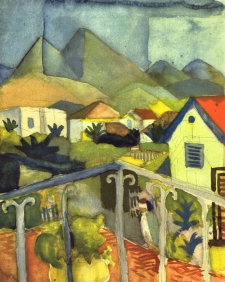 Stampe famose Macke ST. GERMAIN A TUNISI