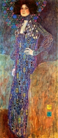 Stampe famose Klimt RITRATTO DI EMILIE FLOGE
