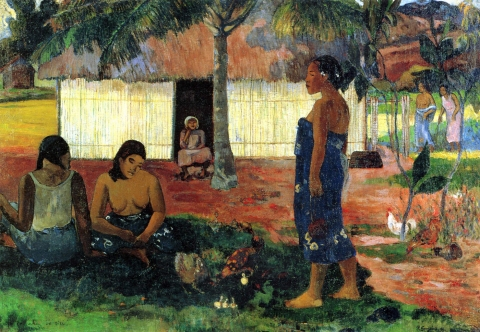 Stampe famose Gauguin  Due donne tahitiane