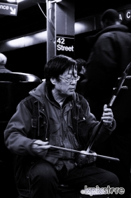 Stampa Bianco e Nero Domenico Pastore NEW YORK SUBWAY MUSIC 2
