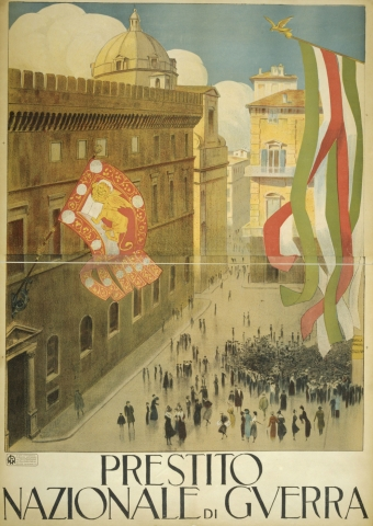 Stampe famose Poster Vintage  Plaza Italy