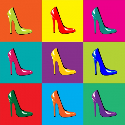 Stampe famose Various Artists  High-heel shoes