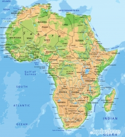 Stampa Mappe geografiche Various Artists AFRICA FISICA