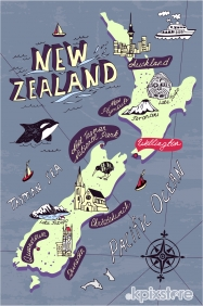 Stampa Mappe geografiche Various Artists NEW ZELAND