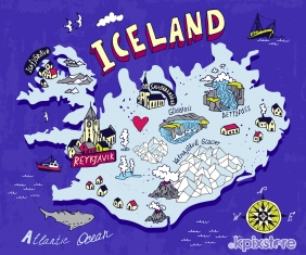 Stampa Mappe geografiche Various Artists ICELAND