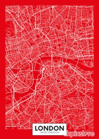 Stampa Mappe geografiche Various Artists LONDON MAP 2