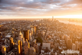 Stampa New York Various Artists TRAMONTO SU MANHATTAN