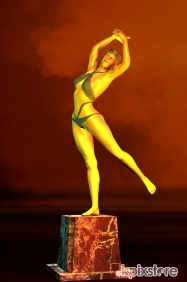 Stampa Nudo artistico Tecnofantasy STATUETTE THE DANCER 2